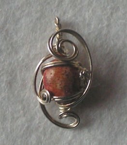 Hand crafted sterling silver pendant with Jasper - Alfreton, United Kingdom - Hand crafted sterling silver pendant with Jasper - Alfreton, United Kingdom