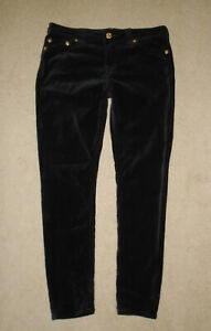 True Religion Crushed Velvet Super Skinny Jeans Pantalones Para Mujer Negro Raro Talla 31 Ebay