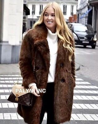 Zara Double Ted Faux Fur Coat Off, Zara Faux Fur Coat With Hood