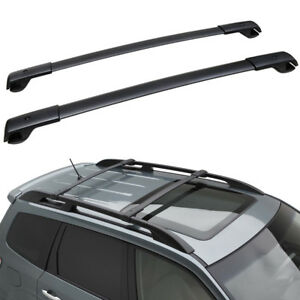 Subaru Forester Roof Rack Ebay >> 2000 2013 Subaru Forester Aero Roof Rack Cross Bar Set Black Oem New