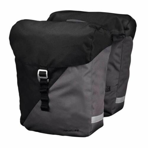 Racktime System Doppeltasche Vida inkl Snapit Adapter schwarz//grau Fahrrad