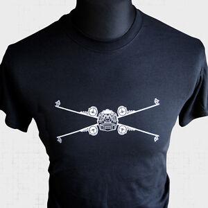 Star-Wars-X-Wing-Fighter-T-Shirt-Rebel-Empire-Vader-Sci-Fi-Vintage