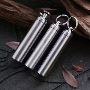Wasserdicht-Kapsel-Pillendose-Schluesselanhaenger-Multitool-Outdoor-Werkzeug