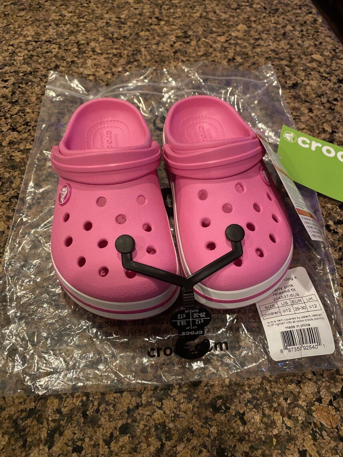 Party Pink 6 Children Crocs Kids Crocband Clog