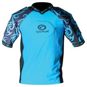 Optimum-Razor-Adult-Rugby-Body-Protection-Shoulder-Pads-Cyan-Black
