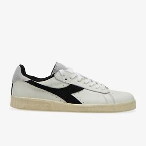 Diadora-GAME-L-LOW-sneakers-uomo-bianca-nero-rosso-USED