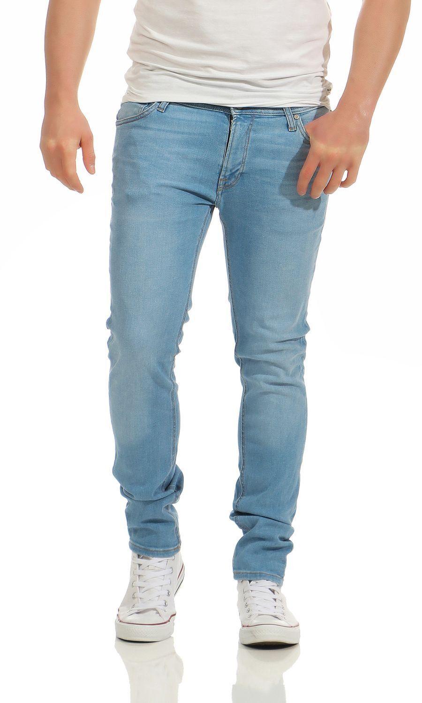 Jack & Jones Liam ORIGINALE am670 Skinny Fit Jeans Uomo Pantaloni