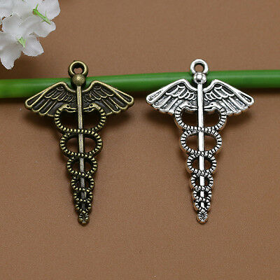 Lot 5/20pc Exquisite Cross Antique silver/Bronze Wings sword snake Charm Pendant
