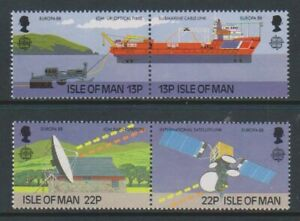 Isle-of-Man-1988-Europa-Transport-amp-Communication-set-MNH-SG-381-4
