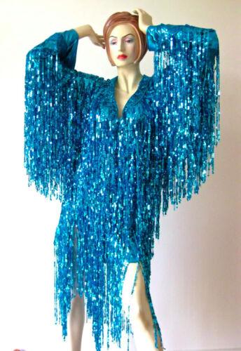 Custom Sequin Fringe DRAG QUEEN LONG SLEEVE Dress