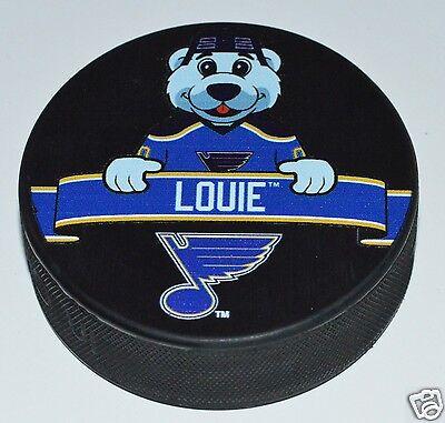 St. Louis Blues Mascot Louie Bear Team Logo SOUVENIR NHL HOCKEY PUCK NEW