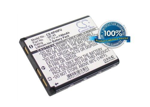 Reino Unido Batería Para Fujifilm Finepix J10 Finepix J100 Np-45 Np-45a 3.7 v Rohs