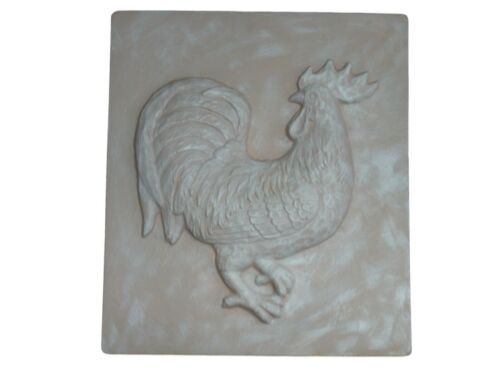 Standing Rooster Stepping Stone Plaster or Concrete Mold 1048 Moldcreations