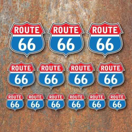 Route 66 Sticker Set Retro Classic Motorcycle Car Beetle Camper Caravan Hot Rod