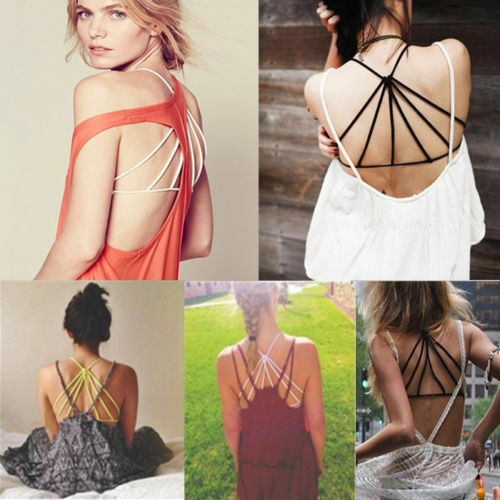 Celebrity Padded Bra Crop Tops Bustier Cutout Shirt Strappy Tank Cami Yoga Sport