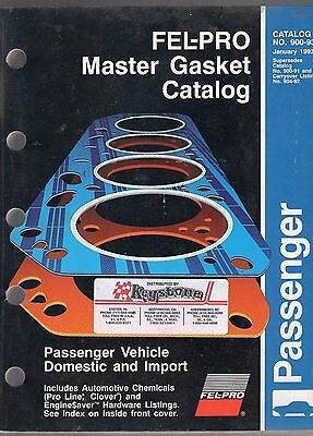 1993 Fel-pro Master Gasket Catalog-#900-93-passenger Vehicle Domestic And Import