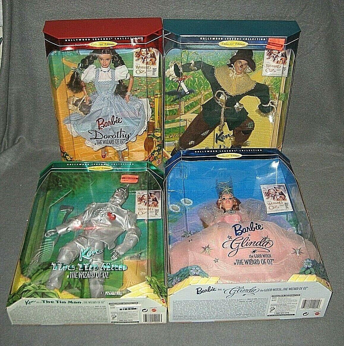 Barbie 1995 Collector Edition Wizard of OZ DgoldTHY TIN MAN GLINDA & SCARECROW