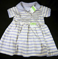 Steve & Barry's Purple\off White Dress Size 18 Months 100% Cotton