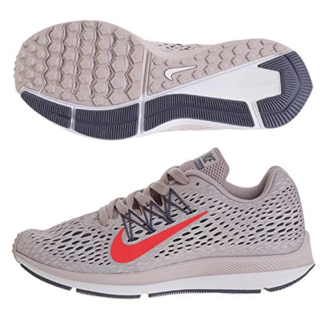 sports shoes 3c07c b2686 Nike Zoom Winflo 5 Womens AA7414-600 Particle Rose Mesh Running Shoes Size  9.5