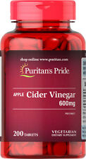 Apple Cider Vinegar 600mg 200 tablets | Puritan's Pride Vitamins Supplements