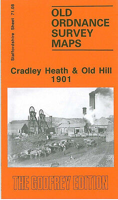 OLD ORDNANCE SURVEY MAP CRADLEY HEATH OLD HILL 1901 WHITEHALL RD CHERRY ORCHARD
