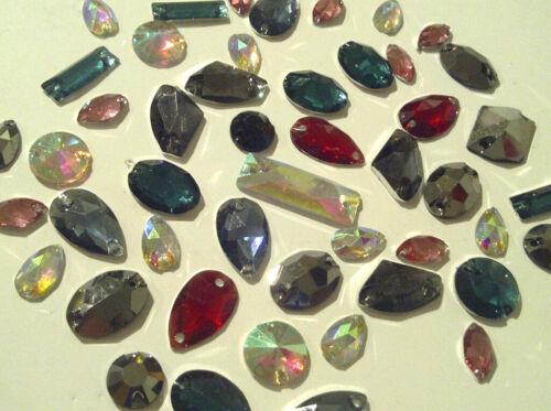 Dress making 240 RESIN SEW//STITCH ON Mixed Shapes DIAMANTE Rhinestone Crystals
