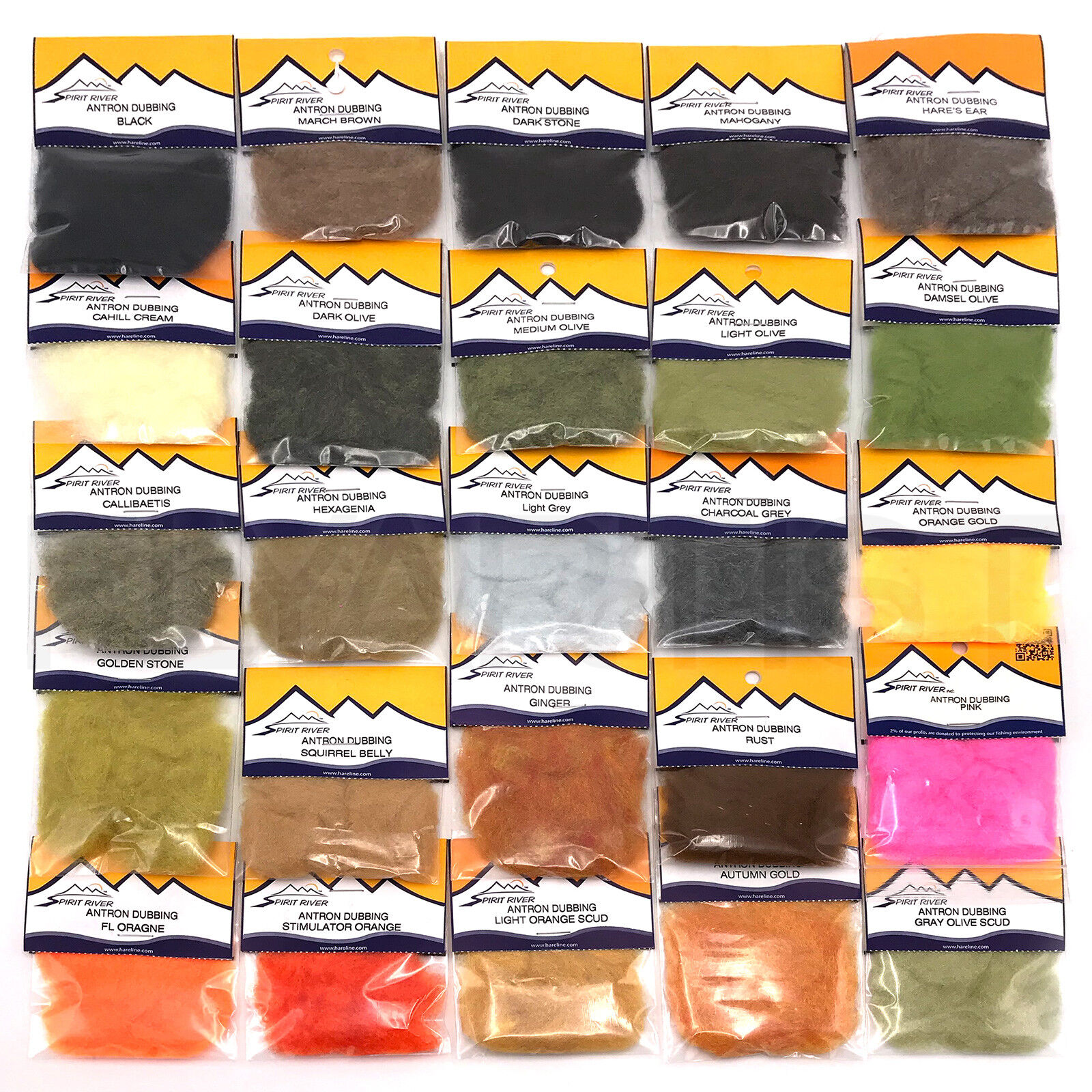 8 Colours Of Antron Dubbing In A Box Fly Tying Dubbing Material