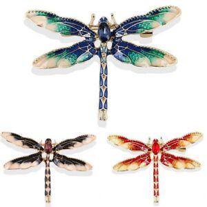 Rhinestone Crystal Pearl Butterfly Dragonfly Cat Animal Brooch Pin Women Jewelry