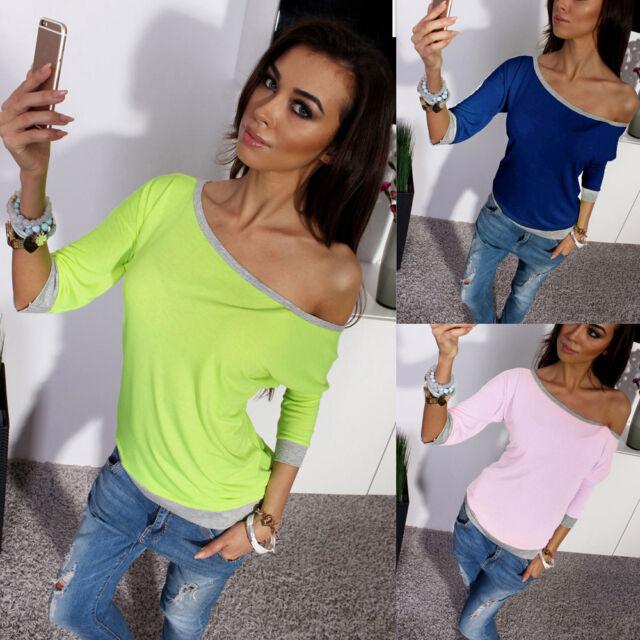 Women Half Sleeve Off Shoulder Loose Tee Shirt Blouse Tops  Women Fashion Blouse