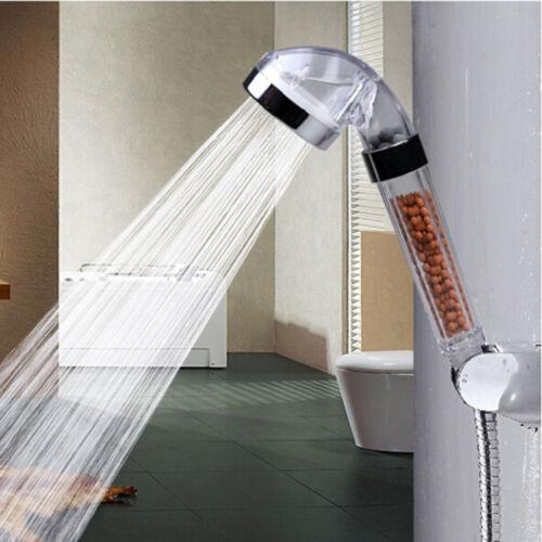 Stainless Steel Bath Shower Head High Pressure Boosting Water Saving Filter Ball