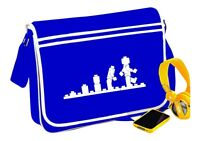 Lego Evolution Messenger Bag Blue Funny Retro Fun Gift - T Shirt In Shop