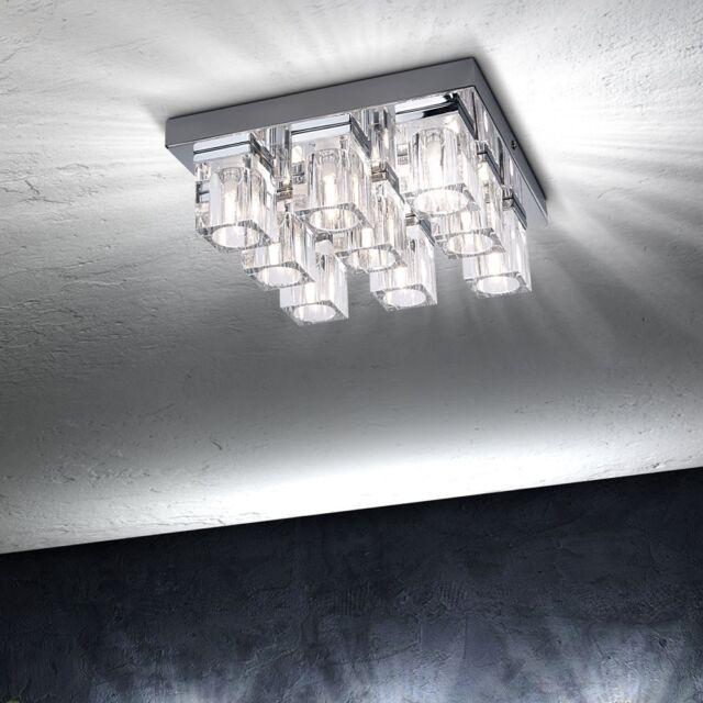 6 luci lampada da soffitto pendente cristallo luce moderna lampadario camera e14 ebay - Lampadario camera da letto moderna ...