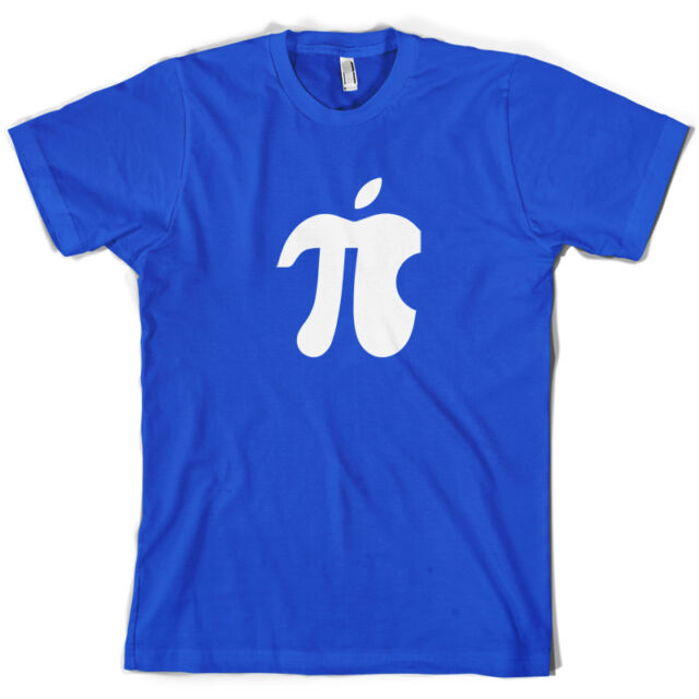 Apple Pi - Mens T-Shirt - Geek - Nerd - Geeky - Maths - 10 Colours - Free UK P&P