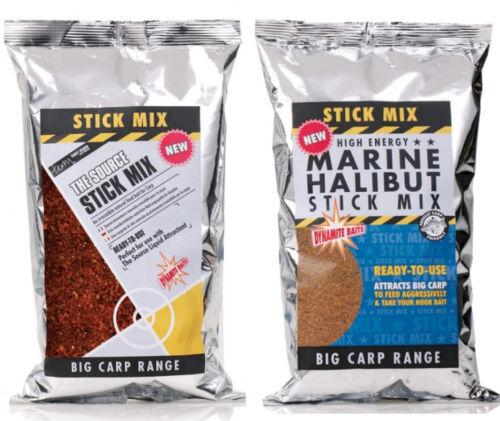 Dynamite baits big pêche à la carpe appât bâton mix source /& marine halibut 1kg