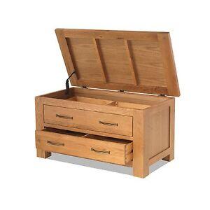 Image Is Loading Oregon Solid Oak Bedroom Furniture Blanket Storage Box