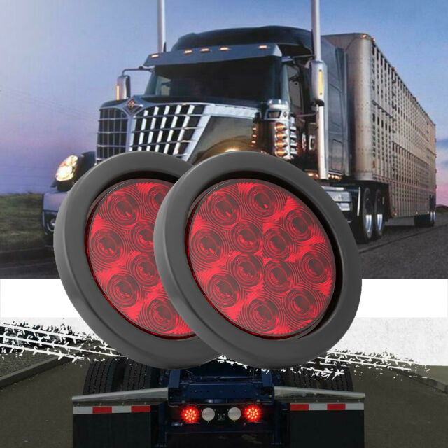 4 U0026quot  Round Stop  Turn  Tail Brake Sealed Truck Trailer Led