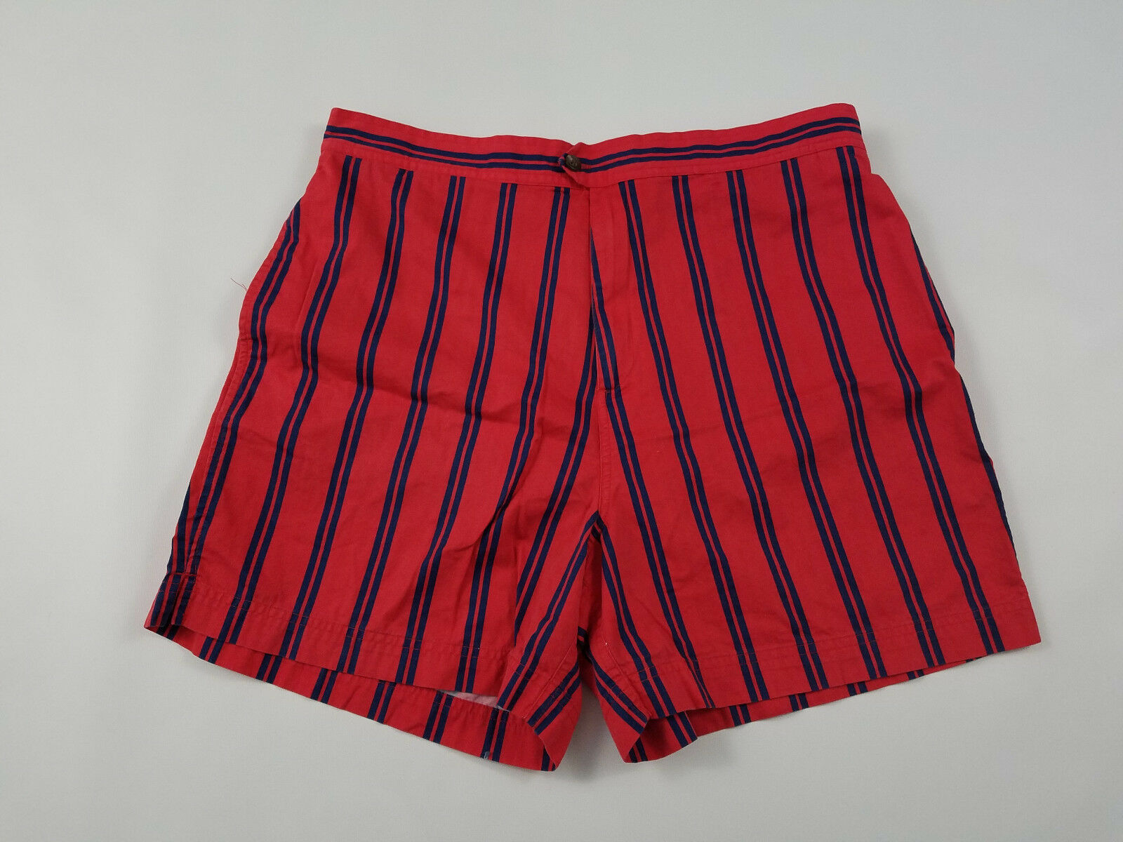 Polo Ralph Lauren Stripe Shorts Men's XL Swim Suit Trunks Vintage 90s Mesh Lined