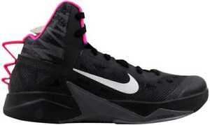 new style 5b72c 92dcd Image is loading Nike-Zoom-Hyperfuse-2013-Black-Metallic-Silver-Dark-