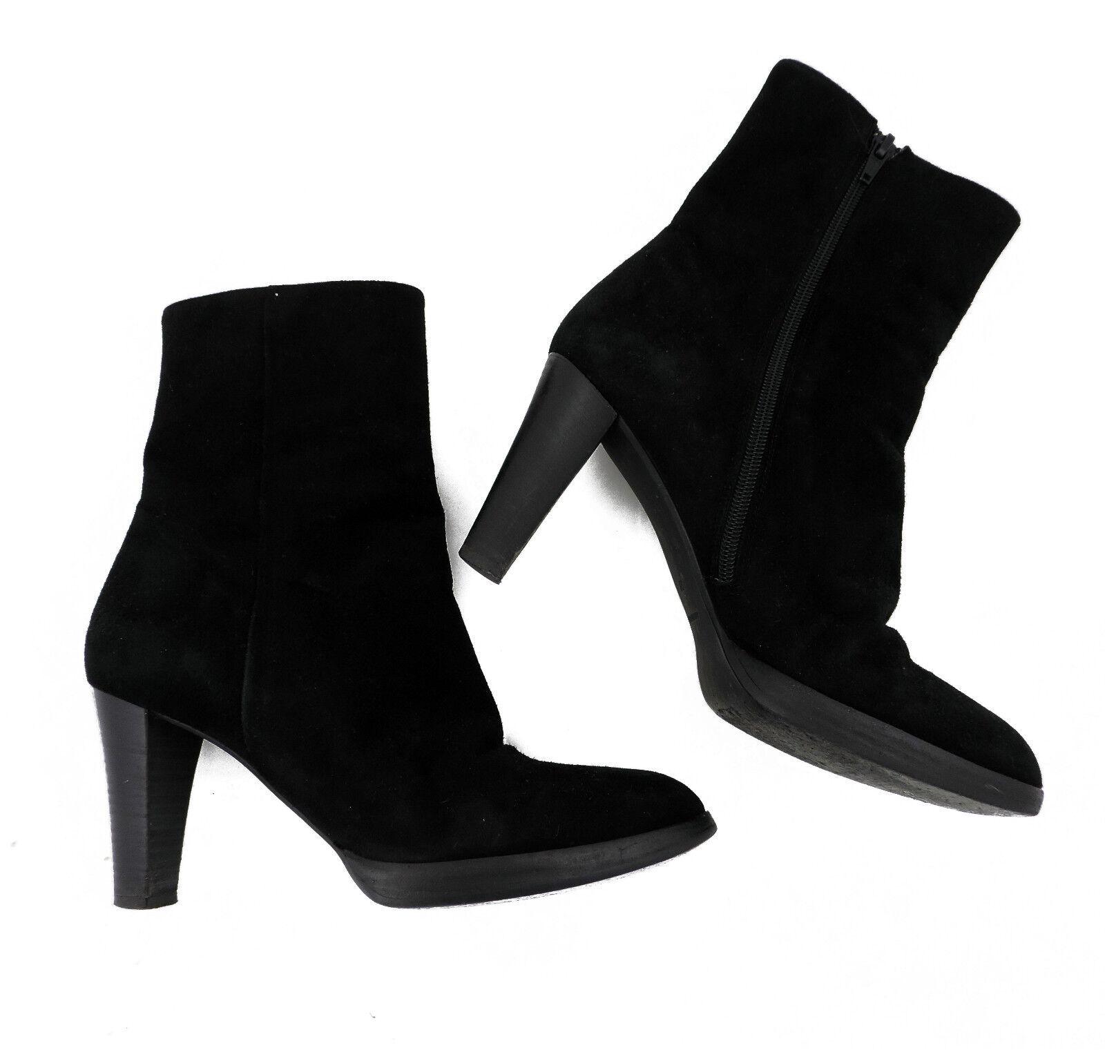 Grandes zapatos con descuento Denkstein Stiefelette 38 schwarz Wildleder high heels top booties