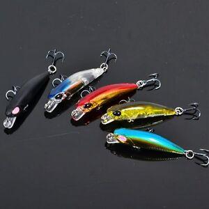 1.7'' fishing tackle baits lures hard triple hook, Soft Baits