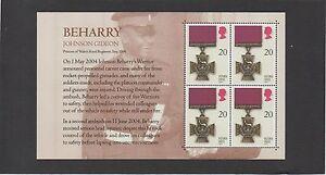 2006 SG266 20p Victoria Cross booklet pane x 4, missing stitching error.