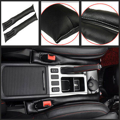 2x Car Black PU Leather Seats Leakproof Stop Gap Filler Holster Pad Seam Holster