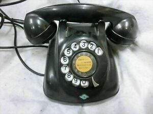 Black Phone for NTT Showa Antique Vintage Interior Dial 1968 from Japan