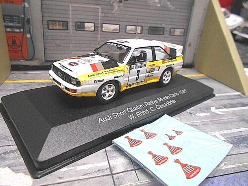 HB Decals 1:43 AUDI Sport Quattro Rallye Monte Carlo 1985 #3 Röhrl IXO CMR