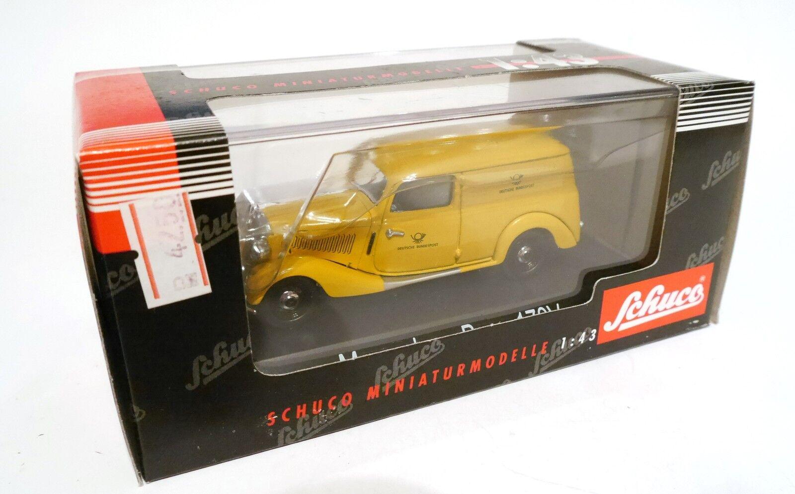Mercedes Typ 170 V delivery van  Bundespost    post posta, Schuco in 1 43 boxed  7dd0b7