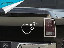 Stethoscope Heart Car Decal Vinyl Sticker Car Boat Window Nurse Doctor Hospital
