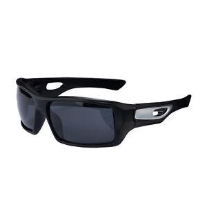 RockBros Cycling Polarized Full Frame Sunglasses Goggles Black Glasses