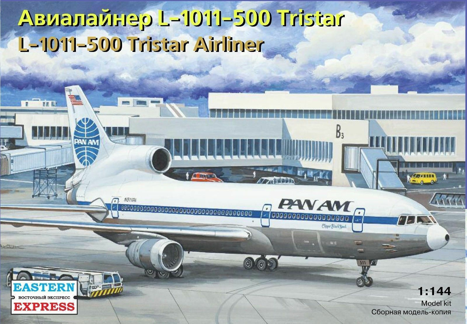 EASTERN EXPRESS 144114 L-1011-500 TRISTAR AIRLINER SCALE MODEL KIT 1 144 NEW