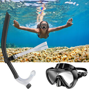 Swimming-Half-Face-Scuba-Diving-Snorkeling-Freediving-Mask-Snorkel-Set-Adults