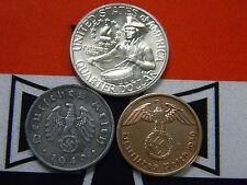 Nazi Coins 1976-S BU Bicentennial Silver Quarter US German Lot